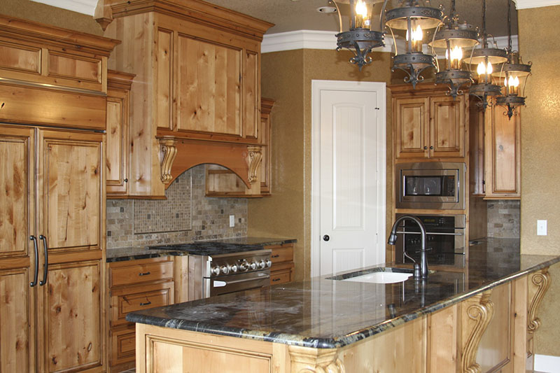 Knotty Alder Kitchen Texas Hill Country Construction